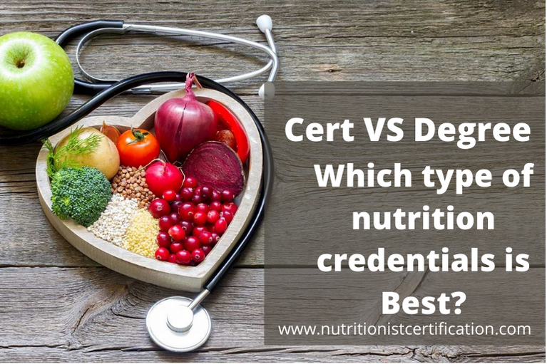Which type of nutrition credentials is Best?